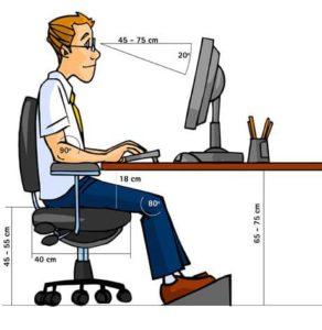 postura en el trabajo